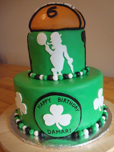 Boston Celtics Cake- if I have a boy I want this for a baby shower ...