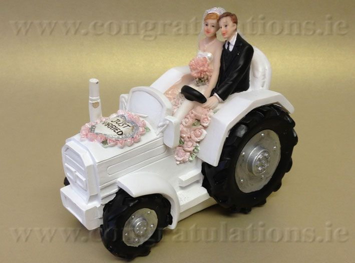 tractor cake toppers wedding cake