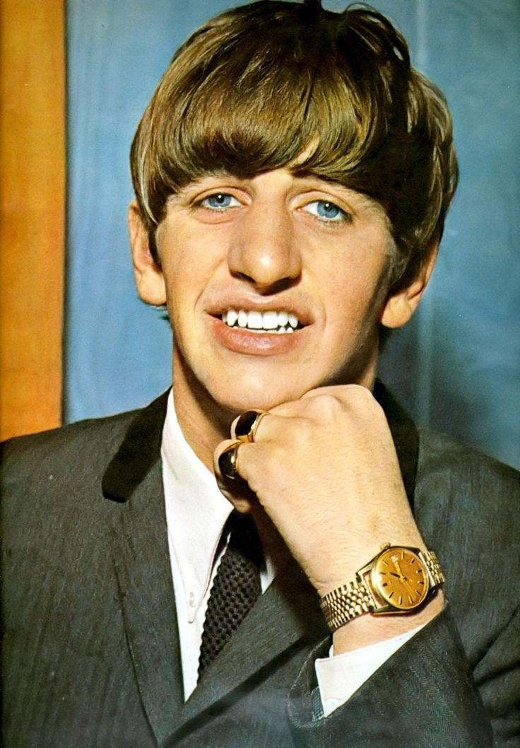 Ringo Starr's pretty blue eyes!