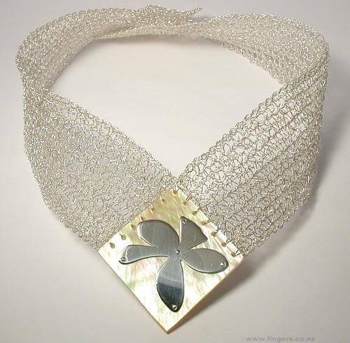 Exhibition Shell Necklace : Ruth baird necklace pearl shell silver contemporary