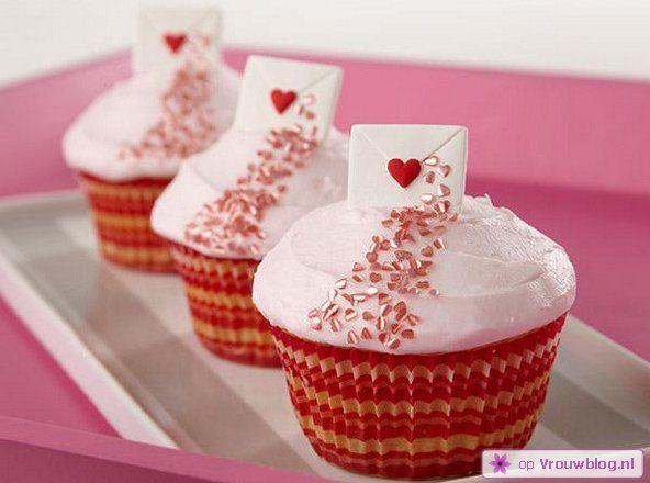 Inspiratie Valentijnsdag cupcakes