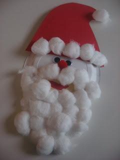 Paper Plate Santa !