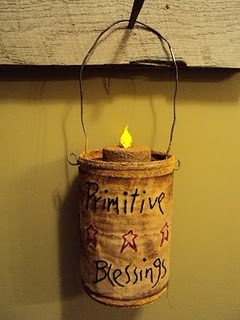 primitive: Crafts Ideas, Primitives Ideas, Prim Patches, Prim Candles, Primitives Candles, Candles Holders, Primitives Crafts,  Pail, Donna Challenges