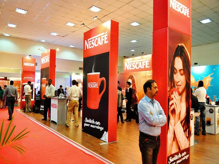 Portable Exhibition Stall Design for Nescafe.Know more about us http://www.expodisplayservice.ae/
