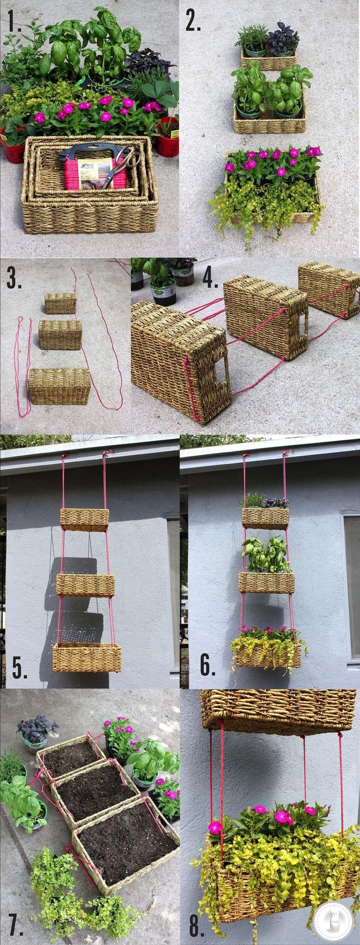 17 mejores im genes sobre ideas para macetas plantas terrazas en pinterest entablado sillas - Colgadores de macetas ...