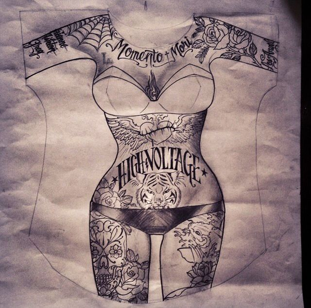 Flower Tattoo Kat Von D: Kat Von D €� KVD €� Drawing €� Doodle €� Sketch €� Illustration