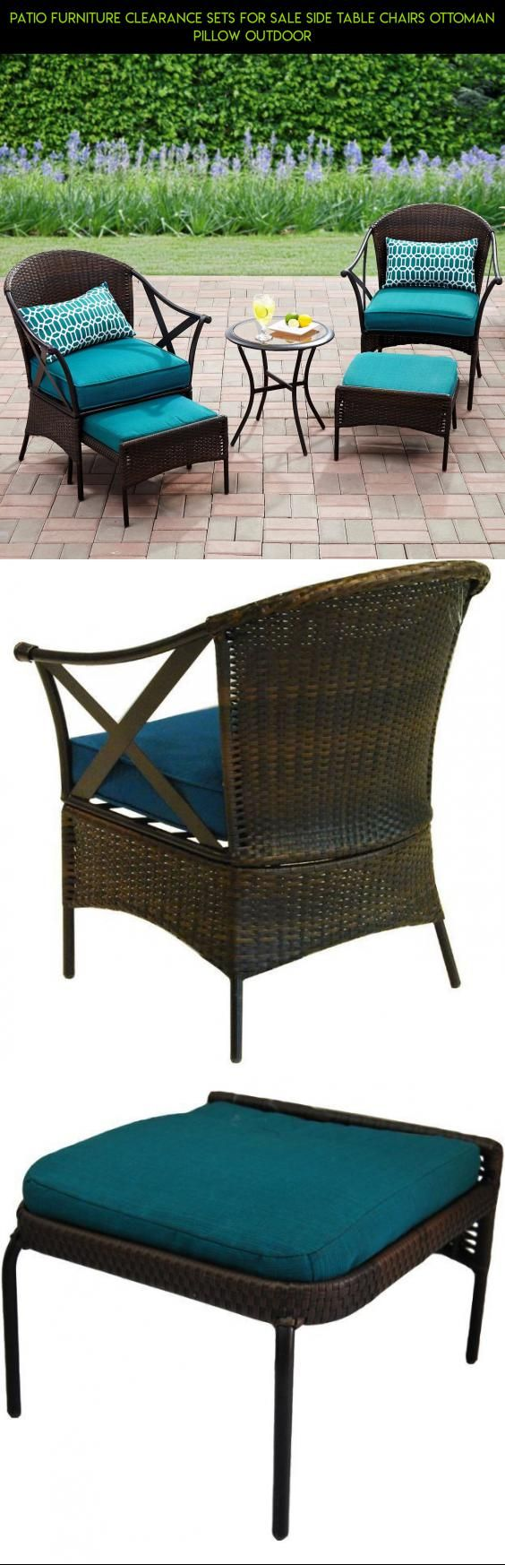 Patio Furniture Clearance Sets For Sale Side Table Chairs Ottoman Pillow  Outdoor #shopping #fpv