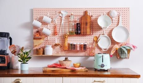 Kitchen Pegboard Storage Wall DIY | Apartment Therapy