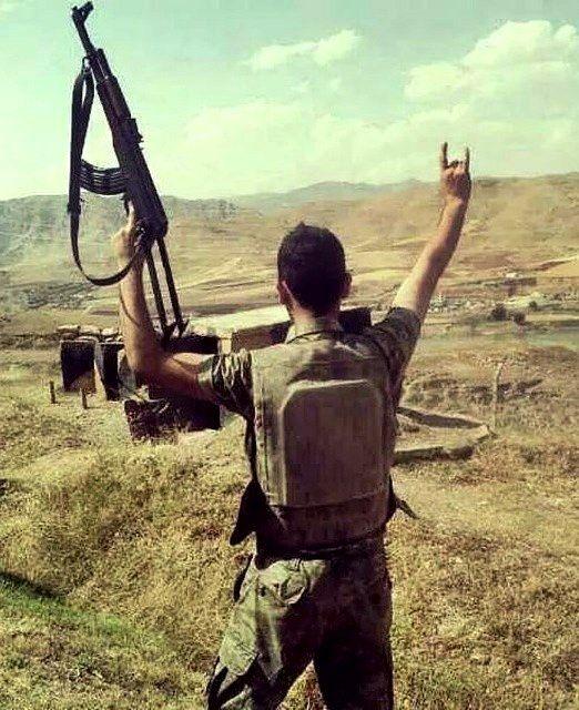 Turkish soldier serving in frontlines with PKK.