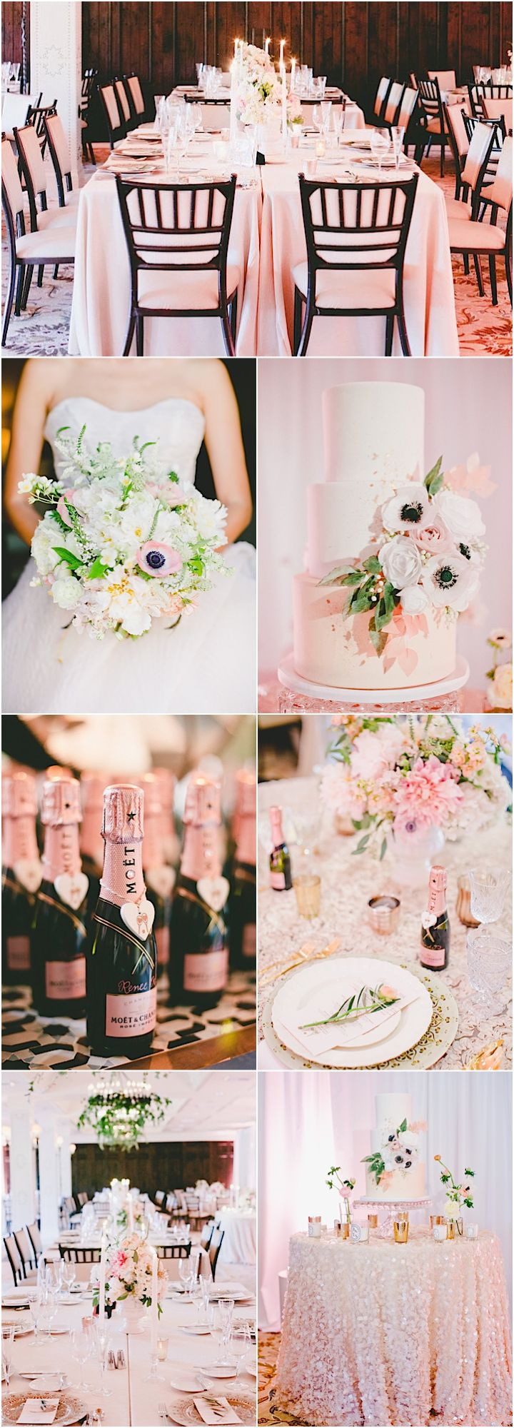 Featured Photographer: onelove photography; Pink wedding reception details