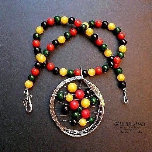 Multikolor na szyi. 3w1. potrójna radość :) w Galeria Limart Lidia Becela na DaWanda.com
