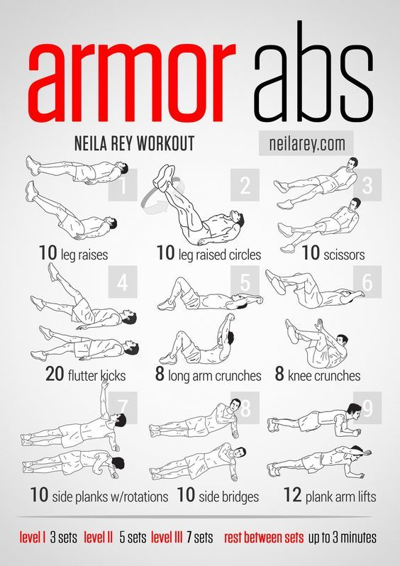 Armor Abs Workout / works: lower abs, front hip flexors, lateral abs, quads