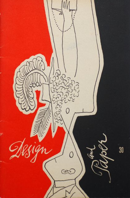 """Cover Design of """"Design and Paper"""" by Saul Steinberg"""