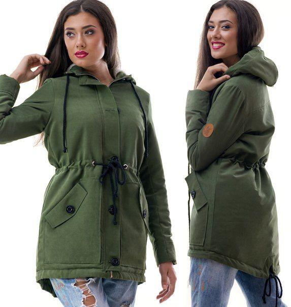 Парка куртка Greta зеленая