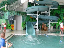 Indoor Swimming Pool With Slides 101 best awesome pools, water slides, and toys. images on