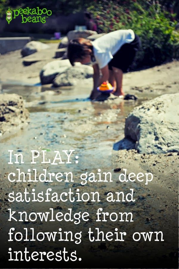 In #Play children gain deep satisfaction and knowledge from following their own interests.  . . If only we gave them more time to play!!