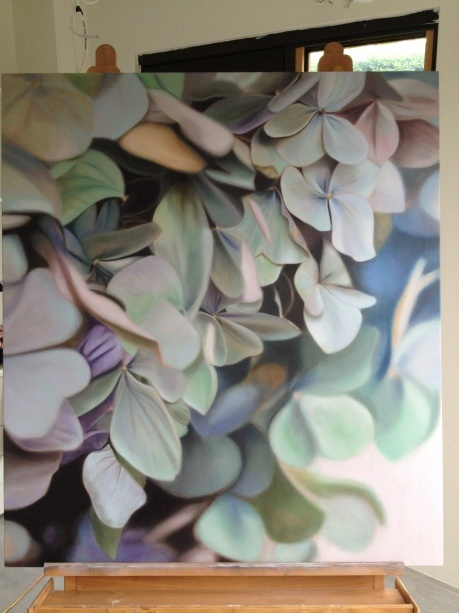 Hydrangea Painting, by Leanne Thomas