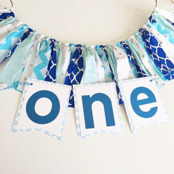 Blue Ombre Boy First Birthday