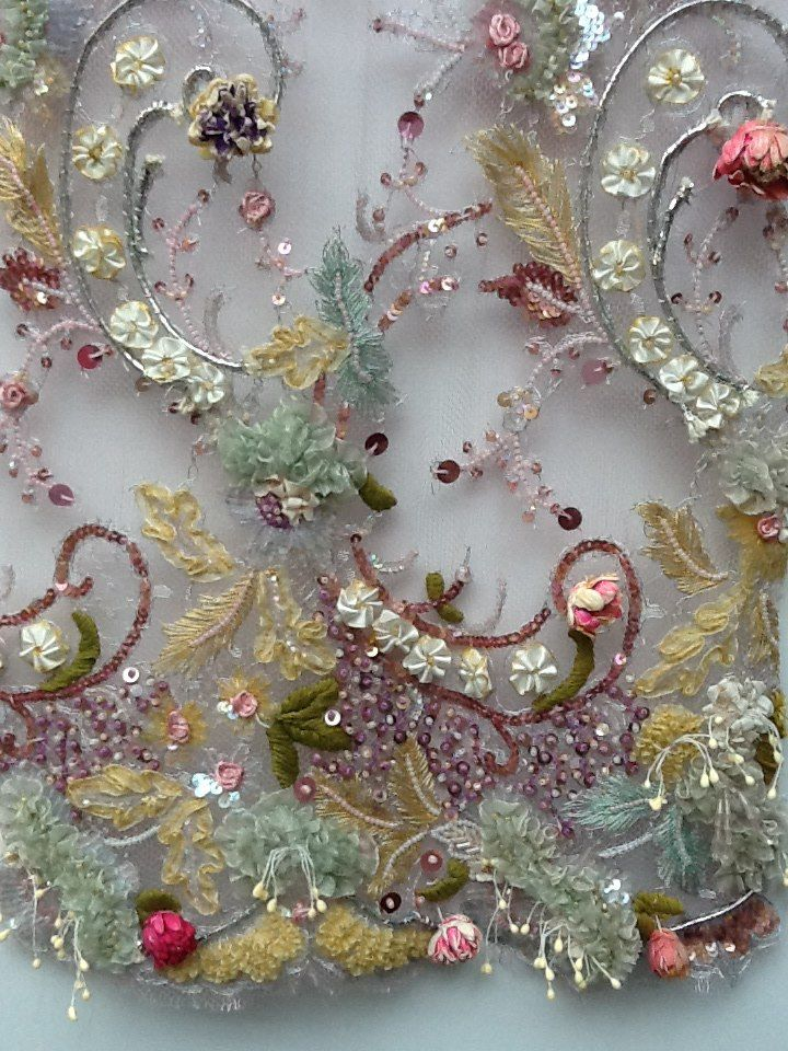 Check out this amazing embellishment we came across at Premier Vision Fabric Trade Show.                                                                                                                                                      More