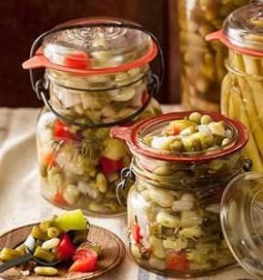 Recipe for Ginger Bean Chow-Chow - Chow-chow recipes vary regionally, but chow chow is generally a tangy, sweet and spicy relish made with coarsely chopped vegetables served either as a condiment (on a hot dog or sandwich, for instance) or drained and served as a vegetable side.
