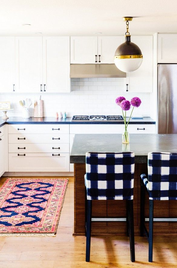 Home Tour: A Textile Designer's Preppy, Feminine Space via @mydomaine