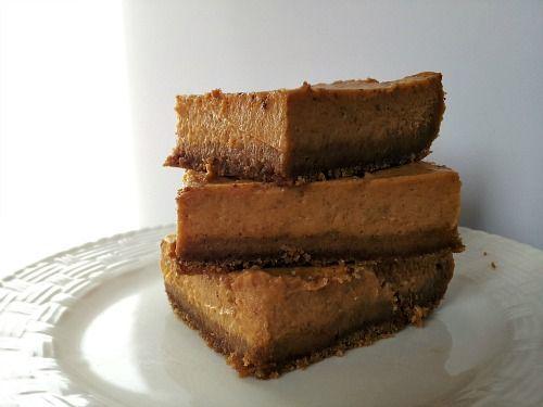 Maple Pumpkin Cheesecake Bars | Pumpkin Yummies | Pinterest