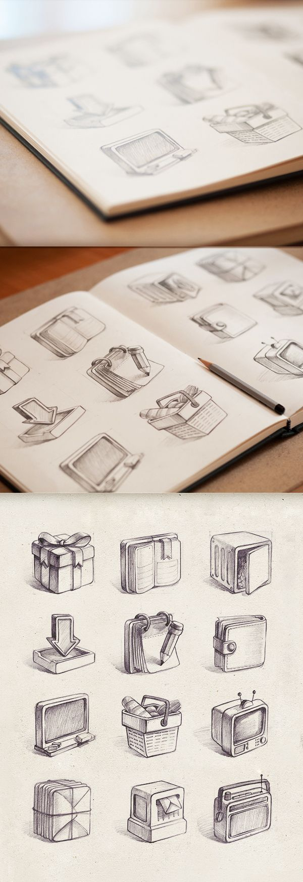Icons and Illustrations Megapack by Mike, via Behance