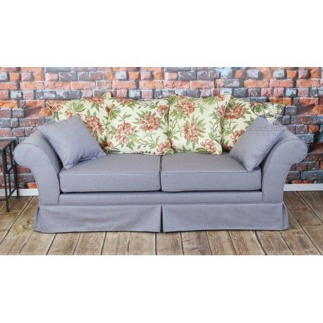 Szara sofa w stylu skandynawskim Ivonne