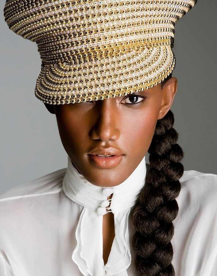 Stunning!  The model, the shot, the militarized gold topper! A complete fashion treat! Jaunel Mckenzie- Kingston, Jamaica