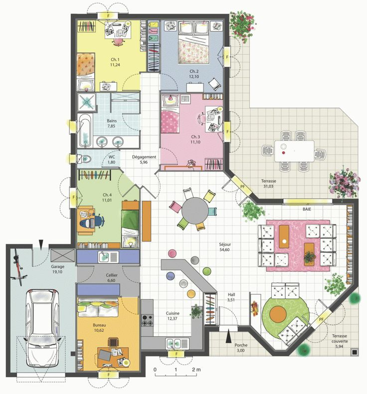 23 best images about plans maison on Pinterest - Plan Maison Moderne  Chambres