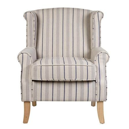 blue stripe edinburgh armchair dunelm mums home. Black Bedroom Furniture Sets. Home Design Ideas