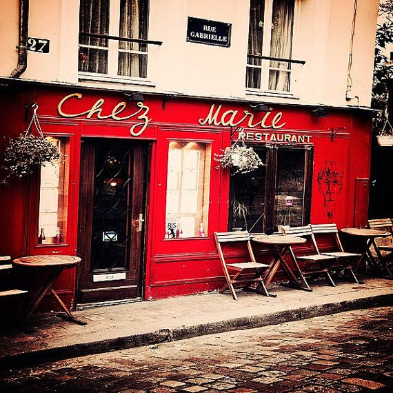 Paris Cafe- looks just like the one @Tyler Williams and I ate in on our honeymoon almost everyday except that one is blue.