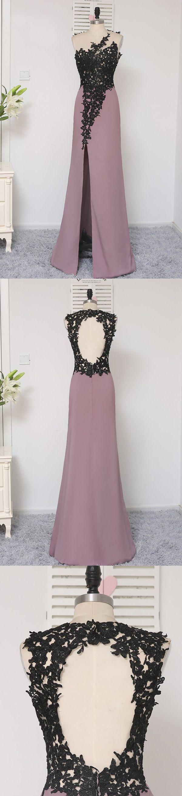 Long Prom Dresses, Sleeveless Prom Dresses, Satin Party Prom Dresses, Open Back Prom Dresses, Side Split Mermaid Prom Dresses, 17280