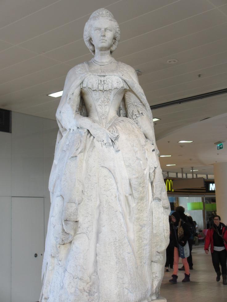 Statue, Westbahnhof of Empress Elisabeth of Austria (Sisi, due to the movie also known now as Sissi, 1837-1898)
