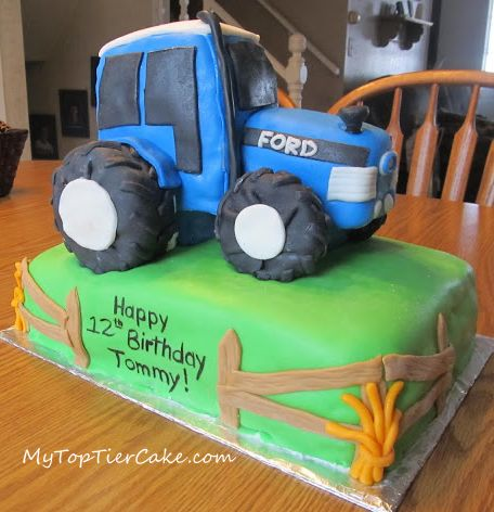 Ford Tractor Cake Top Tier Cake St Cloud MN www ...