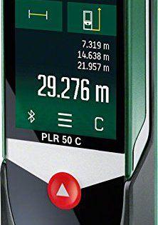 Bosch Télémètre Laser Connecté PLR 50 C avec Ecran Tactile, Connexion Bluetooth, Portée 50 m 0603672200: Connectivité bluetooth (avec…