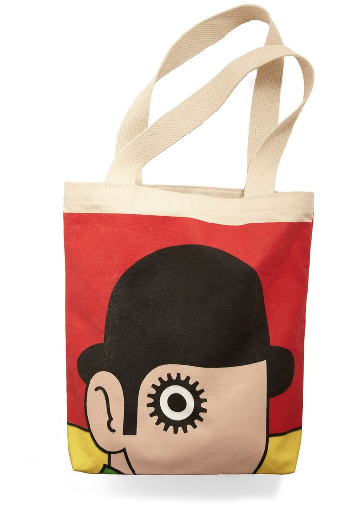 Bookshelf Bandit Tote in Anthony $17.99  For the library :)