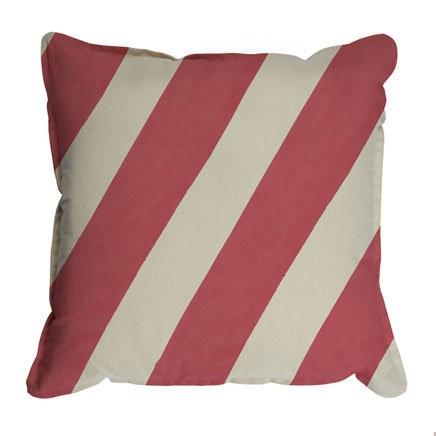 Pony Rider - Pony Stripe Red Cushion Cover