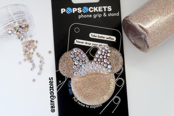 Stocking Stuffer Phone grip Glitter Mouse Pop Socket