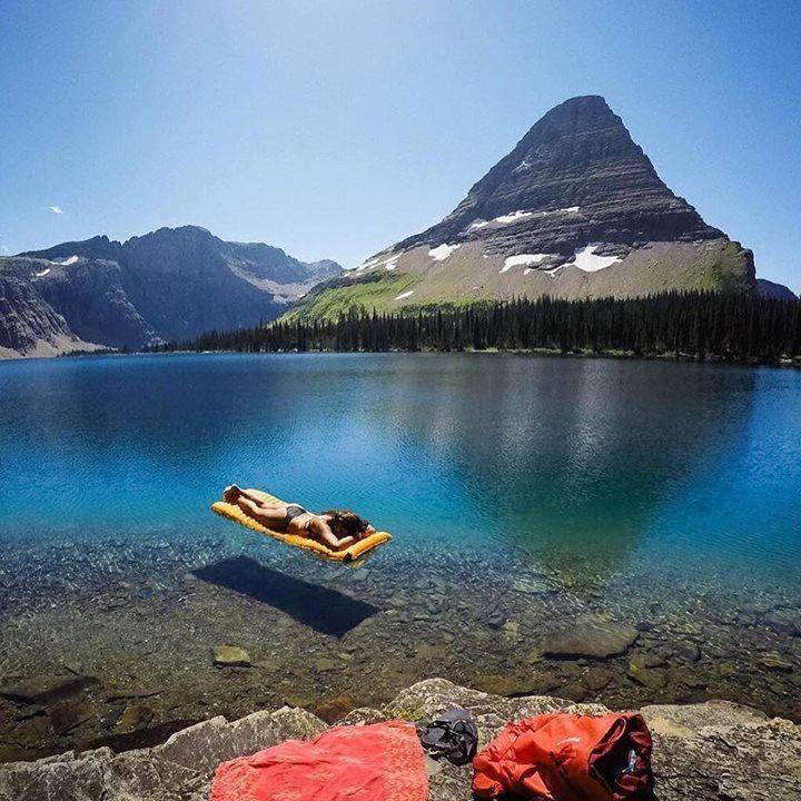 Flathead lake, montana, canada.