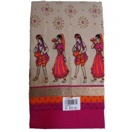Unstitched Churidar Pink With Chiku color printed design cotton Salwar Kameez churidar material