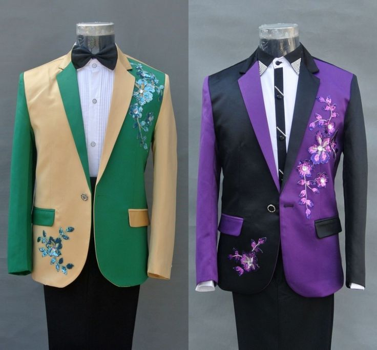 Купить (Куртка + брюки) 2016 мужские костюмы набор танцор певец платье…