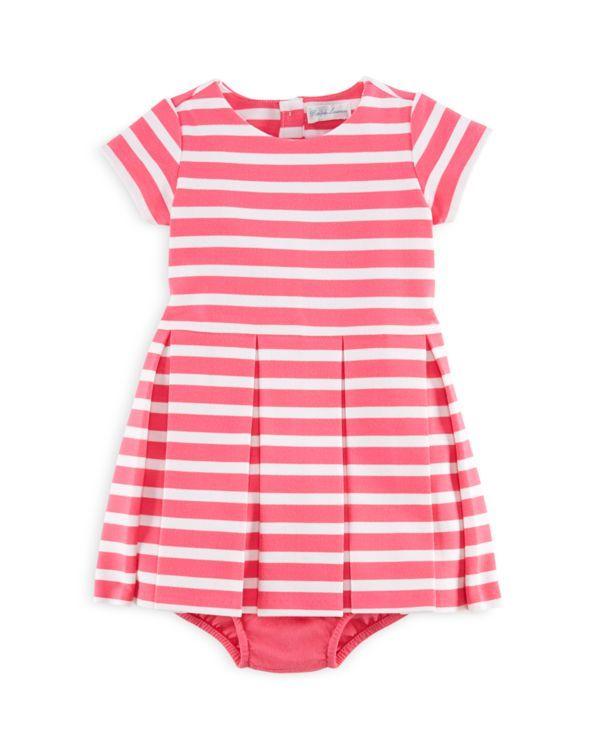 Ralph Lauren Infant Girls Stripe Ponte Dress  Bloomers Set - Sizes 3-24 Months  Clothes
