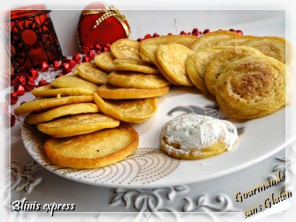 Gourmande sans gluten: Blinis express, sans gluten et sans lactose