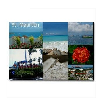 SOLD! Colorful Sint Maarten photo collage. :-)