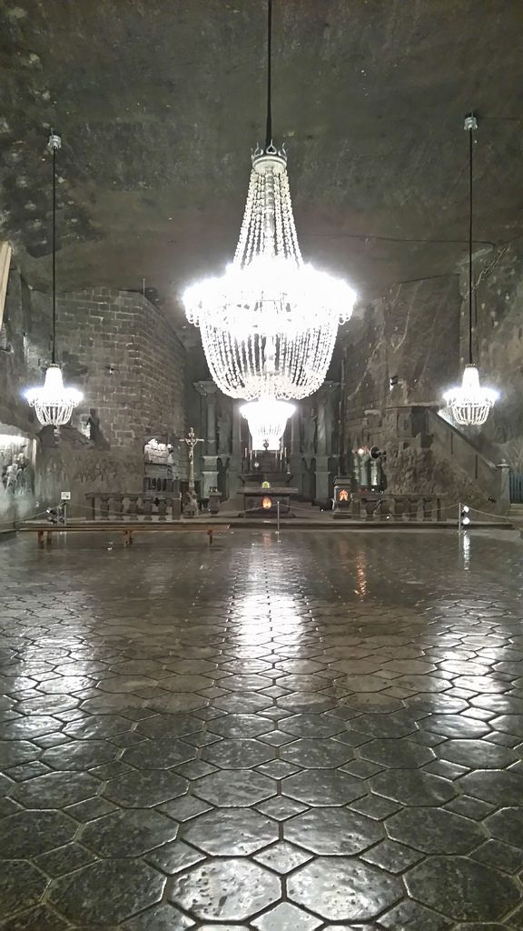 The Chapel of Saint Kinga, the biggest and the most beautiful and impressive chapel and place under he ground in Wieliczka Salt Mine