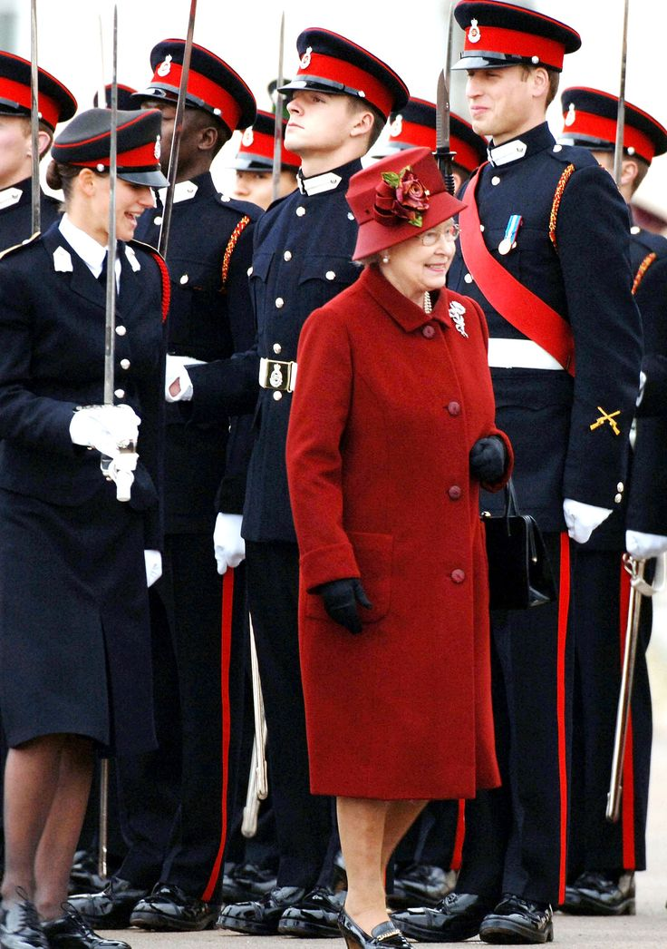 Prince William is inspected by his grandmother, Queen Elizabeth ll, as he takes part in the Sovereign's Parade at the Royal Military Academy Sandhurst on December 15, 2006 in Sandhurst, England.
