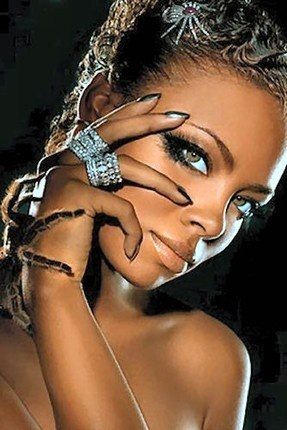 My favorite pic of Eva Pigford.  Fierce through fear.