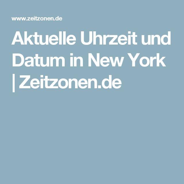Aktuelle Uhrzeit und Datum in New York | Zeitzonen.de