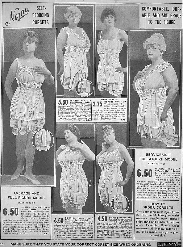 "These corsets are listed as available in up to size 36 (36 inches) which means that they were designed to fit waists between 38 and 46 inches in diameter! Don't let anyone tell you plus sizes didn't exist in the past! | 1910s-1920s corsets | ""The Stout Woman"""